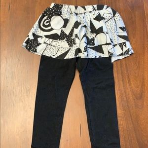 Other - Leggings with ruffled skirt attached